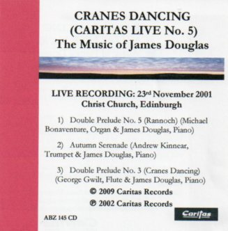 Caritas Live No. 5 Cranes Dancing by James Douglas