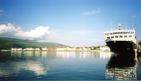 A View of Ullapool from the Sea, Copyright Helen Douglas 2008